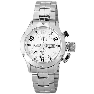 Bariho Fashion Men Wrist Watch Analog Display with Date / Day Round Dial Steel Watch BandMens Watches<br>Bariho Fashion Men Wrist Watch Analog Display with Date / Day Round Dial Steel Watch Band<br><br>Brand: Bariho<br>Watches categories: Male table<br>Watch style: Fashion<br>Movement type: Quartz watch<br>Shape of the dial: Round<br>Display type: Pointer<br>Case material: Stainless steel<br>Band material: Stainless steel<br>Clasp type: Pin buckle<br>Special features: Day and date, Decorating small two stitches<br>Water Resistance: Life waterproof<br>The dial thickness: 1.2 cm / 0.5 inch<br>The dial diameter: 4.3 cm / 1.7 inch<br>The band width: 2.2 cm / 0.9 inch<br>Product weight: 0.125 kg<br>Product size (L x W x H): 24.0 x 5.3 x 1.2 cm / 9.4 x 2.1 x 0.5 inches<br>Package Contents: 1 x Watch