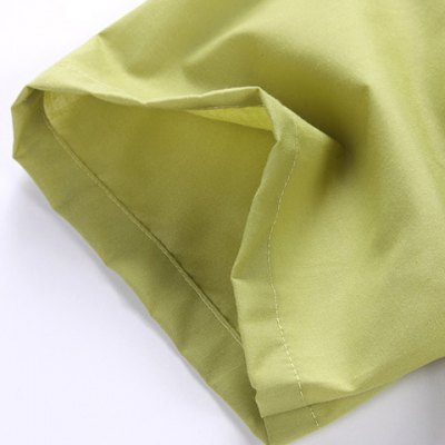 Гаджет   Fashion Style Turn-down Collar Loose-Fitting Solid Color Short Sleeves Cotton Shirt For Men Shirts