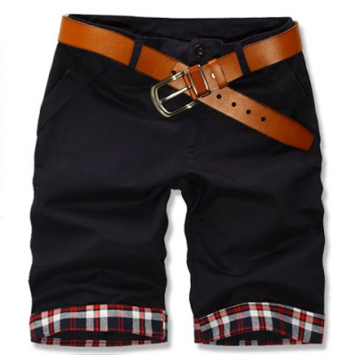 Гаджет   Fashion Style Zipper Fly Hit Color Design Colorful Checked Splicing Straight Leg Men