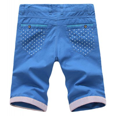 Гаджет   Casual Style Slimming Solid Color Purfled Straight Leg Polyester Shorts For Men
