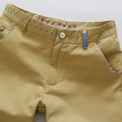 Гаджет   Fashion Style Slimming Button Embellished Purfled Straight Leg Cotton Shorts For Men Shorts