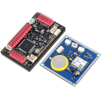 Arduino Compatible ZnDiy - BRY ArduPilot Mega APM2.6 Flight Controller with GPS Module 3 - axis Gyro Accelerometer and MagnetometerMulti Rotor Parts<br>Arduino Compatible ZnDiy - BRY ArduPilot Mega APM2.6 Flight Controller with GPS Module 3 - axis Gyro Accelerometer and Magnetometer<br><br>Type: Flight controller, GPS receiver module<br>Compatibility: Ardunio<br>Package Weight: 0.220 kg<br>Package Size(L x W x H): 10.0 x 8.0 x 7.0 cm<br>Package Contents: 1 x Flight Controller, 5 x Cable, 1 x GPS Module, 1 x 6-pin Connection Cable (20cm), 4 x Shielding Plate