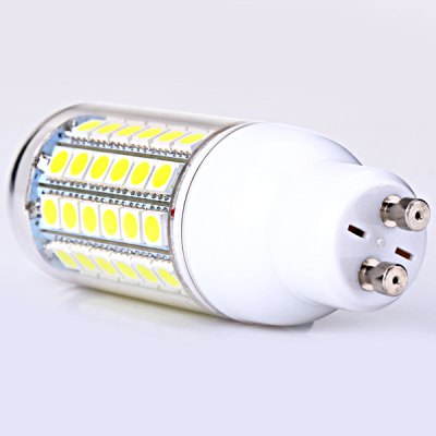GU10 69 x 5050 LED 14W 220V White Corn Lamp with Lamp ShadeLED Light Bulbs<br>GU10 69 x 5050 LED 14W 220V White Corn Lamp with Lamp Shade<br><br>Base Type: GU10<br>Type: Corn Bulbs<br>Output Power: 14W<br>Total Emitters: 69 x 5050 SMD LED<br>Voltage (V): AC 220<br>Features: Long Life Expectancy, Energy Saving, Low Power Consumption<br>Function: Commercial Lighting, Home Lighting, Studio and Exhibition Lighting<br>Available Light Color: Natural White<br>Sheathing Material: Plastic<br>Product Weight: 34 g<br>Package Weight: 0.100 kg<br>Product Size (L x W x H): 9 x 3.3 x 3.3 cm / 3.5 x 1.3 x 1.3 inches<br>Package Size (L x W x H): 12 x 4 x 4 cm<br>Package Contents: 1 x Corn Light