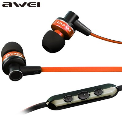 awei ES - 90Vi Strereo Sound In - ear Earphone Intelligent Three - key Control Headphone with Mic 1.2M Noodle Cable 3.5MM Jack for iPhone Smartphone MP3 MP4 LaptopsEarbud Headphones<br>awei ES - 90Vi Strereo Sound In - ear Earphone Intelligent Three - key Control Headphone with Mic 1.2M Noodle Cable 3.5MM Jack for iPhone Smartphone MP3 MP4 Laptops<br><br>Brand: awei<br>Model  : ES-90Vi<br>Color : Red, Black<br>Wearing type : In-Ear<br>Function : Noise Cancelling, Microphone, Answering phone, Song switching<br>Connectivity : Wired<br>Connecting interface : 3.5mm<br>Application : Portable Media Player, Mobile Phone, Computer<br>Plug interface: Full-sized<br>Cable length : 1.2m<br>Driver unit: 11.5mm<br>Frequency response : 20-2000Hz<br>Impedance : 16ohms<br>Sensitivity : 110 dB ± 3 dB<br>Package weight  : 0.150 kg<br>Package size (L x W x H) : 18.0 x 10.0 x 4.0 cm<br>Package contents: 1 x Earphone, 2 x Paired Earbud, 1 x Portable Bag