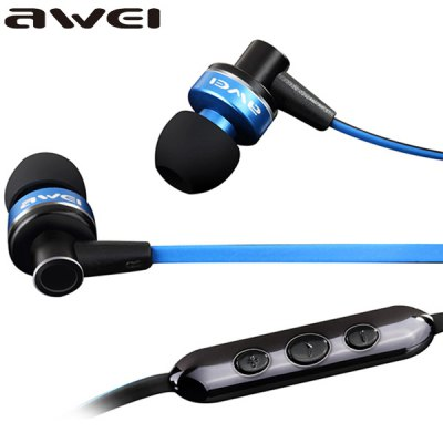 Гаджет   awei ES - 90Vi Strereo Sound In - ear Earphone Intelligent Three - key Control Headphone with Mic 1.2M Noodle Cable 3.5MM Jack for iPhone Smartphone MP3 MP4 Laptops Earphones