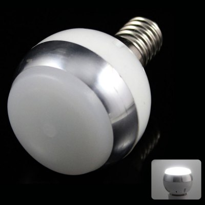 E14 3W 6 x 5730 SMD LED AC85-265V 220lm White 6500K Ball Bulb with Frosted Cover