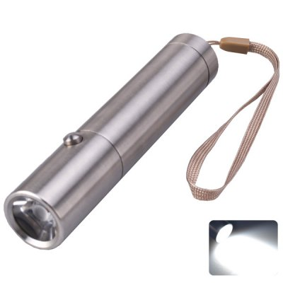 SingFire SF-345 Torch Cree XP-E R3 3-Mode 180lm Highlight LED White Stainless Steel Flashlight Silver
