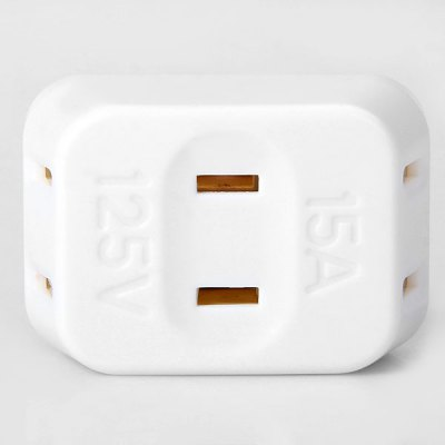 1 to 3 15A 125V Portable USA Travel Charger Power Socket Plug Adapter Converter 2 Flat Pins / Prongs