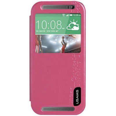 Гаджет   USAMS Merry Series PU + PC Stand Cover Case with View Window for HTC One M8 Mini Other Cases/Covers