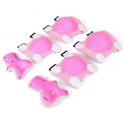 6PCS Sports Skating Cycling Protective Gear Knee Elbow Wrist Support Pad Set for Kids