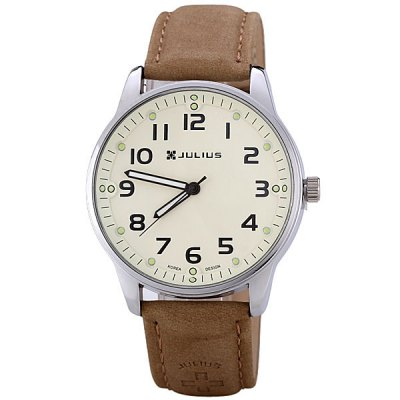 Гаджет   Julius Stylish Men Watch Analog with Round Dial Genuine Leather Watch Band Men