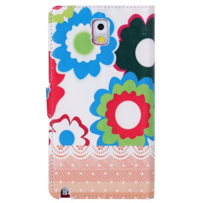 Colorful Drawing Sunflower Pattern TPU and PU Stand Case with Card Holder for Samsung Galaxy Note 3 N9000 N9008Samsung Cases/Covers<br>Colorful Drawing Sunflower Pattern TPU and PU Stand Case with Card Holder for Samsung Galaxy Note 3 N9000 N9008<br><br>For: Mobile phone<br>Compatible for Sumsung: Galaxy Note 3 N9000<br>Features: With Credit Card Holder, Full Body Cases, Cases with Stand<br>Material: PU Leather, TPU<br>Style: Special Design<br>Product weight: 0.062 kg<br>Package weight: 0.130 kg<br>Product size (L x W x H) : 15.6 x 8.8 x 1.8 cm / 6.1 x 3.5 x 0.7 inches<br>Package size (L x W x H): 18 x 10 x 3 cm<br>Package Contents: 1 x Case