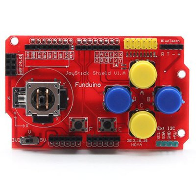 Гаджет   Arduino Compatible DIY Joystick Shield V1 Module with USB Cable (Red) Other Accessories
