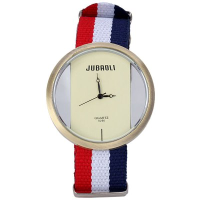 Гаджет   Stylish National Flag Pattern Sports Watch Analog with Round Dial Canvas Watch Band Watches