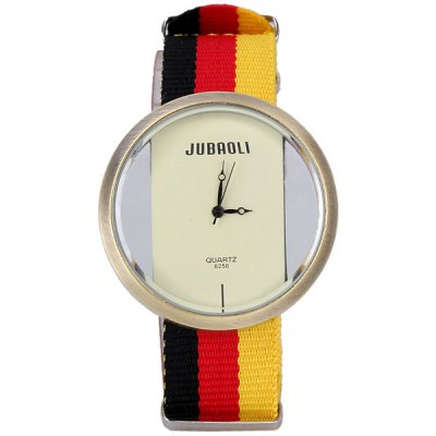 Гаджет   Stylish National Flag Pattern Sports Watch Analog with Round Dial Canvas Watch Band