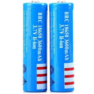 Гаджет   UltraFire 18650 3600mAh 3.7V Li - ion Rechargeable Battery without Protection Board  -  2PCS Batteries