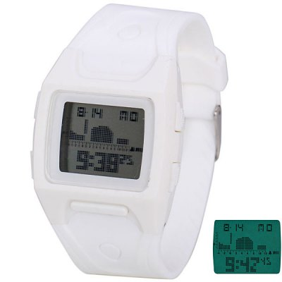 Shors Superb LED Sports Watch with Digital Display Day / Date Rectangle Dial and Rubber Band