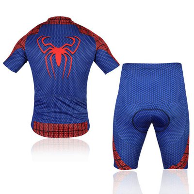 ФОТО OQsport Quick - dry Summer Men Bicycle Cycling Jerseys Suit of Spider Pattern Design