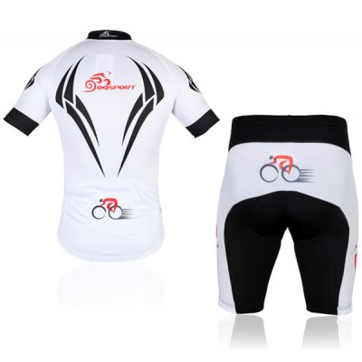 Polyester Men Bicycle Cycling Jerseys Suit Cycling Colthing SetCycling<br>Polyester Men Bicycle Cycling Jerseys Suit Cycling Colthing Set<br><br>Type: Cycling Suit<br>For: Cycling, Leisure sport<br>Material: Nylon, Polyester, Lycra<br>Functions: Anti-Pilling, Anti-Shrink, Wicking, Anti-Wrinkle, Quick-drying, Flexible, Breathable<br>Product weight   : 0.4 kg<br>Package weight   : 0.42 kg<br>Package size (L x W x H)  : 32 x 27 x 5 cm<br>Package Contents: 1 x Cycling Jacket, 1 x Cycling Shorts