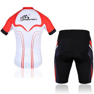 OQsport Men Bicycle Cycling Jerseys Cycling Shorts Cycling Colthing Set  -  White and RedCycling<br>OQsport Men Bicycle Cycling Jerseys Cycling Shorts Cycling Colthing Set  -  White and Red<br><br>Type: Cycling Suit<br>For: Cycling, Leisure sport<br>Material: Polyester, Nylon, Lycra<br>Functions: Breathable, Anti-Pilling, Anti-Shrink, Wicking, Anti-Wrinkle, Quick-drying, Flexible<br>Size: XL, XXL, XXXL, L<br>Color: White, Red<br>Product weight   : 0.400 kg<br>Package weight   : 0.42 kg<br>Package size (L x W x H)  : 27.0000 x 15.0000 x 2.0000 cm / 10.61 x 5.90 x 0.79 inches<br>Package Contents: 1 x Cycling Jacket, 1 x Cycling Shorts