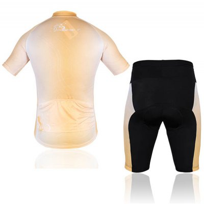 Men Bicycle Cycling Clothing Shirt Jerseys Cycling Shorts  -  OrangeCycling<br>Men Bicycle Cycling Clothing Shirt Jerseys Cycling Shorts  -  Orange<br><br>Type: Cycling Suit<br>For: Cycling, Leisure sport<br>Material: Nylon, Lycra, Polyester<br>Functions: Breathable, Anti-Pilling, Anti-Shrink, Wicking, Anti-Wrinkle, Quick-drying, Flexible<br>Size: XL, XXXL, XXL, L<br>Color: Red, White<br>Product weight   : 0.4 kg<br>Package weight   : 0.42 kg<br>Package size (L x W x H)  : 32 x 27 x 5 cm<br>Package Contents: 1 x Cycling Jacket, 1 x Cycling Shorts
