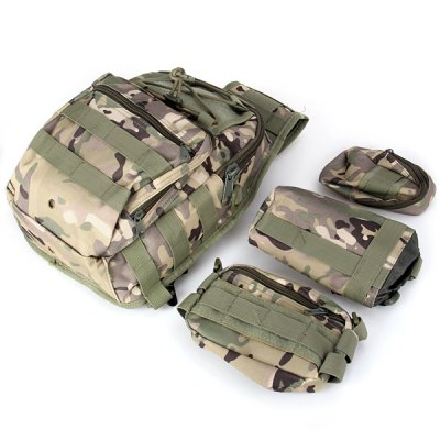 ФОТО Multi - purpose Water Resistance Shoulder Bag Tactical Style Molle Combination Bag for Outdoor Camping Hiking Travel
