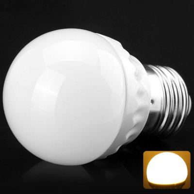 E27 3W 5630 SMD LED AC85 - 265V 300lm Warm White 3500K Ball Bulb