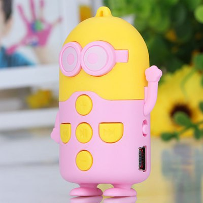 Cute Bee-do Shape Standing MP3 Player with Universal 3.5mm Jack Support SD Card