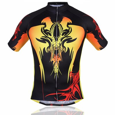 Men Summer Bicycle Cycling Clothing Shirt Jerseys Cycling ShortsCycling<br>Men Summer Bicycle Cycling Clothing Shirt Jerseys Cycling Shorts<br><br>Type: Cycling Suit<br>For: Cycling, Leisure sport<br>Material: Nylon, Lycra, Polyester<br>Functions: Anti-Pilling, Anti-Shrink, Wicking, Anti-Wrinkle, Quick-drying, Flexible, Breathable<br>Size: XXL, XXXL, L, XL<br>Color: Black, Yellow<br>Product weight   : 0.4 kg<br>Package weight   : 0.42 kg<br>Package size (L x W x H)  : 32 x 27 x 5 cm<br>Package Contents: 1 x Cycling Jacket, 1 x Cycling Shorts