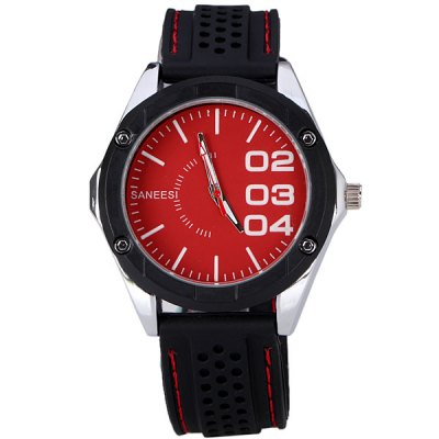 Гаджет   Comfortable Men Wrist Watch Analog with Round Dial Silicone Watch Band Men