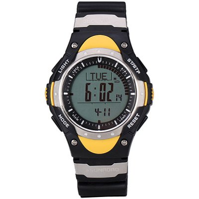 Гаджет   Superb LED Sports Digital Altimeter Watch with Barometer Compass Thermometer Date Round Dial and Rubber Band Sports Watches