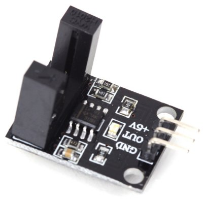 LM393 Single-Channel Beam Photoelectric Sensor Infrared Light Counter Head for Parts Counting / Motor Speed