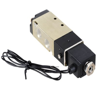 DC 24V 2 Position 5 Way G1/8 Exhaust Pneumatic Electromagnetic Solenoid Valve w / Cable