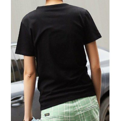 Fashion Style Round Neck Personality Ethnic Embroidery Embellished Slimming Solid Color Short Sleeves Men's Cotton T-Shirt