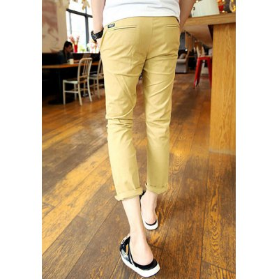 Гаджет   Fashion Style Lace-Up Slimming Solid Color Simple Design Narrow Feet Men