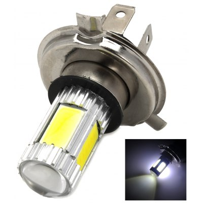 H4 5 - LED (4 COB + 1 Cree XP - E) 13.5W 1250lm White Light Car Rear Lamp Reverse Light Turn Signal Light (12 ~ 30V)