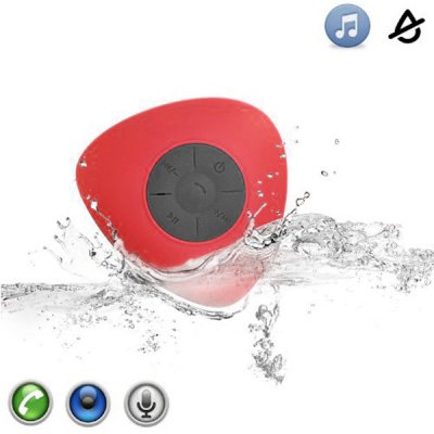 JT2681 Water Resistant Bathroom Wireless Handsfree Bluetooth Speaker for iPhone 6S / 6S Plus / Samsung  -  Suction Cup