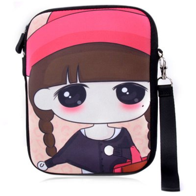 Lovely Pigtail Xiao Xi Design Soft Protective Bag Case for iPad Mini