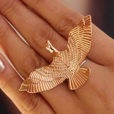 Characteristic Flying Bird Pattern Ring For Women