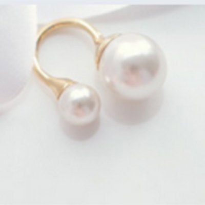 Фотография Exquisite Faux Pearl Decorated Cuff Ring For Women