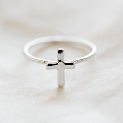 Cross Twisted Alloy Ring