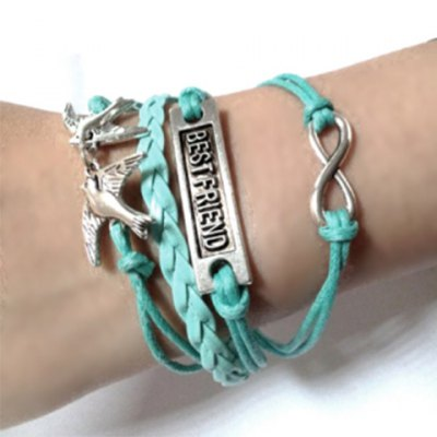 Stylish English Letter Pigeon Multielement Bracelet For Women