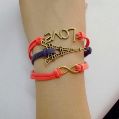 Stylish Love Eight Tower Multielement Bracelet For Women
