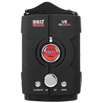 V8 9 Bands 360 - degree Scanning Radar Detector for Car Driving Safety (Support English and Russian)