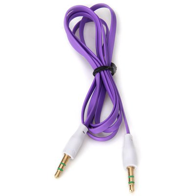 Narrow Noodle Style 3.5mm to 3.5mm Male to Male Flat Audio Cable