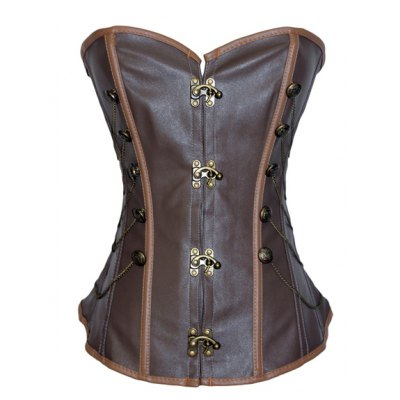Chain Embellished Criss-Cross Lace-Up Corset For Women