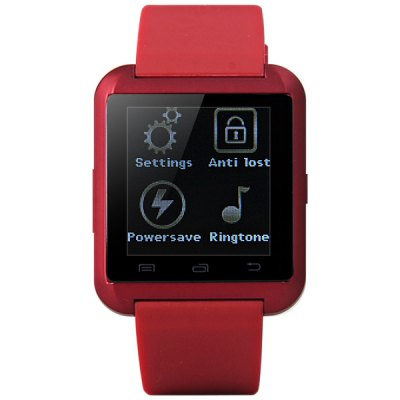 U8 SmartwatchSmart Watch Phone<br>U8 Smartwatch<br><br>Brand: U Watch<br>For: Mobile phone<br>Compatible models: Smartwatch Bluetooth Watch<br>Available color: Black,Red,White<br>Product weight: 0.040 kg<br>Package weight: 0.162 kg<br>Product size (L x W x H): 4.80 x 4.10 x 1.20 cm / 1.89 x 1.61 x 0.47 inches<br>Package size (L x W x H): 12.20 x 9.20 x 6.10 cm / 4.8 x 3.62 x 2.4 inches<br>Package Contents: Smartwatch Bluetooth Watch