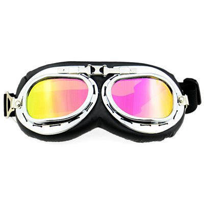 Vintage Motorcycle GogglesSports Goggles<br>Vintage Motorcycle Goggles<br><br>Color: Multi-color,Transparent<br>For: Motorcycle<br>Frame material: Polycarbonate<br>Functions: Windproof, Fashion, UV Protection<br>Lens material: High quality PC<br>Package Contents: 1 x Motorcycle Goggle<br>Package size (L x W x H): 21.00 x 8.00 x 2.50 cm / 8.27 x 3.15 x 0.98 inches<br>Package weight: 0.086 kg<br>Product size (L x W x H): 19.50 x 8.00 x 2.00 cm / 7.68 x 3.15 x 0.79 inches<br>Product weight: 0.058 kg<br>Type: Sports goggles