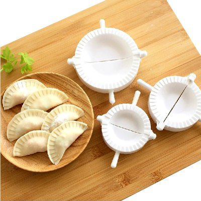 3PCS Durable DIY Mould Plastic Dumplings Moulds