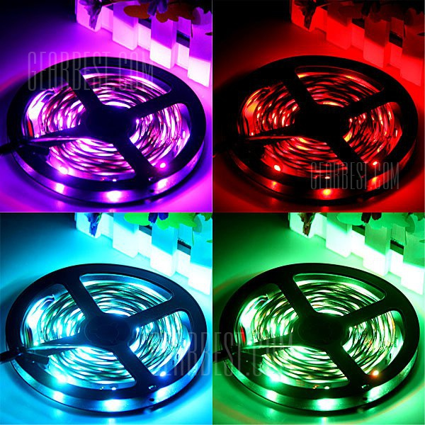 5M 36W 150 SMD 5050 LED RGB Decoration Light Strip with Power Adapter and 44 Keys Remote Control